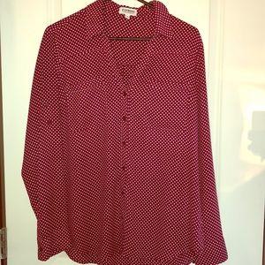 Express Portofino dress shirt, red, size L